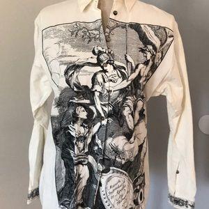 Vintage printer long sleeve blouse Ann Taylor